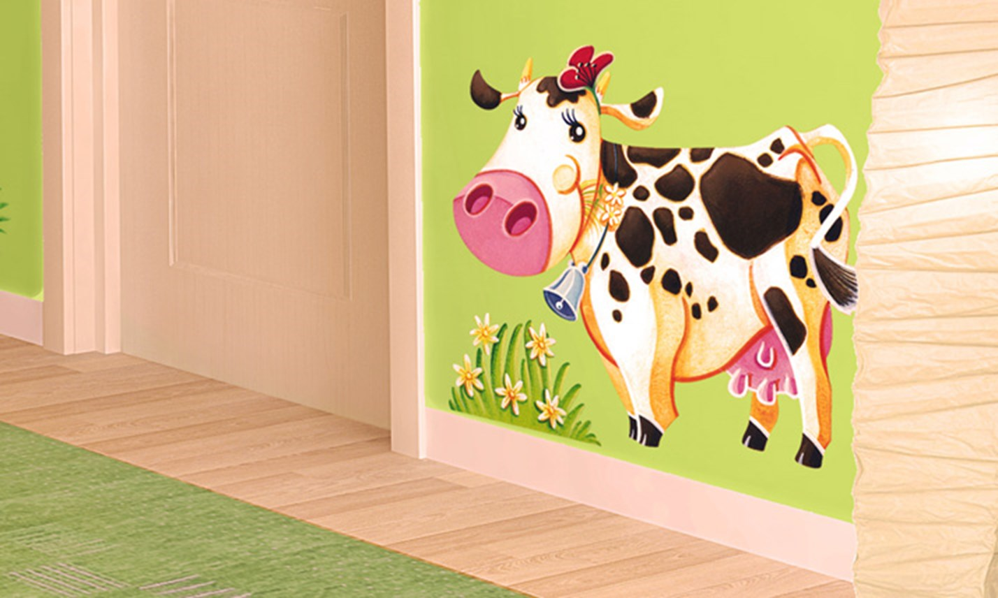 Stickers murali bambini cameretta l 39 allegra fattoria - Decorazioni murali camerette ...